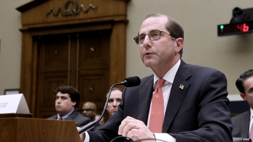 Health and Human Services Secretary Alex Azar testifies before a House committee on Feb. 15, days before he offered a rule change that could undermine Affordable Care Act coverage for millions of Americans.
