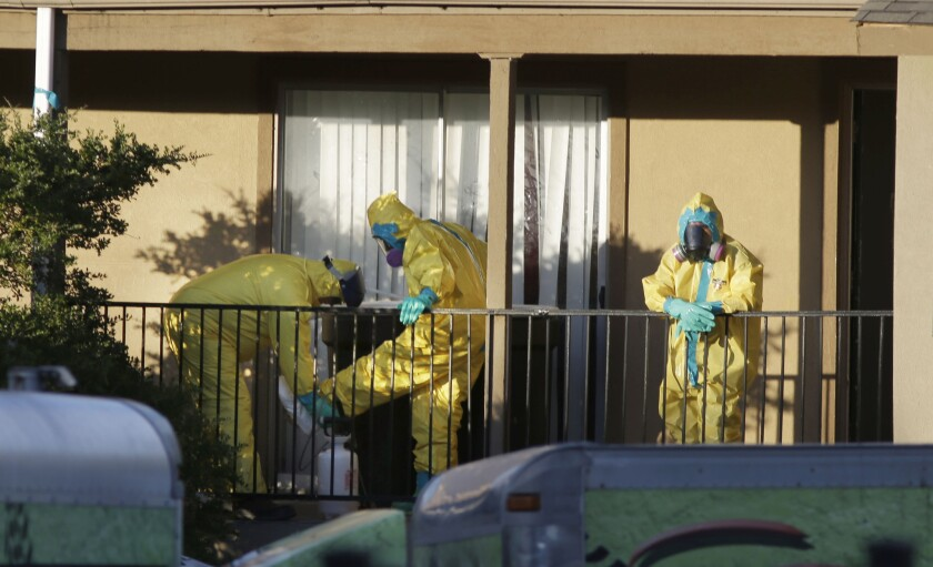 Cleaners at Dallas apartment where Ebola victim had stayed