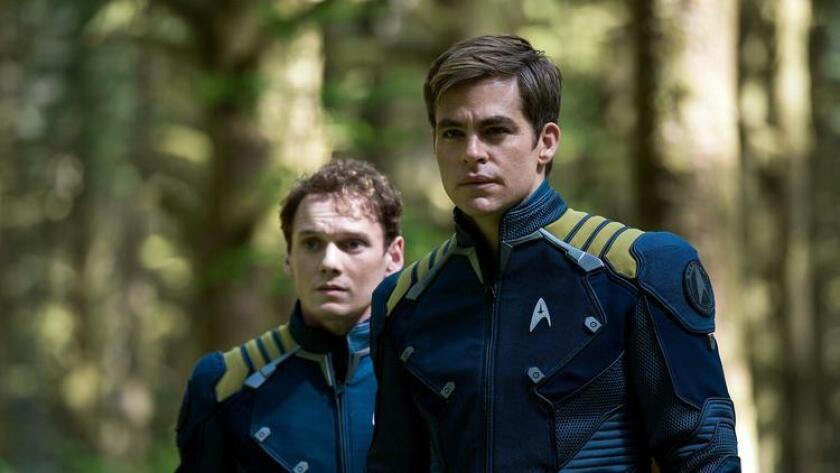 """Anton Yelchin (left) plays Chekov and Chris Pine plays Kirk in """"Star Trek Beyond"""" from Paramount Pictures. Kimberley French phto (Kimberley French)"""