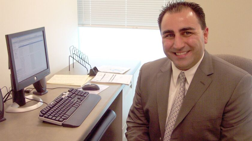 John Saro Balian, shown in 2006, after he became a spokesman for the Glendale Police Department. Pro