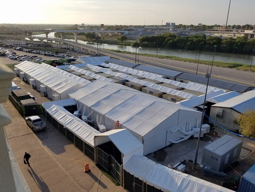 Tent courthouses for migrants to open along Texas border, as