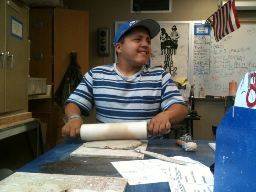 Orange Glen High senior Sean Tedford was a bit shy this week in ceramics class when talking about his selection as prom king.