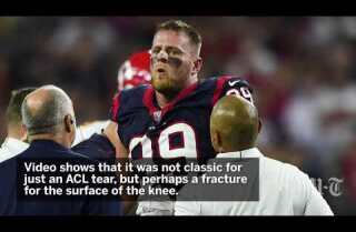 J.J. Watt suffers significant knee injury, more than ACL tear