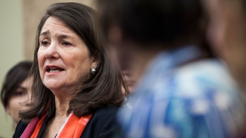 FILE - In this Jan. 5, 2017 file photo, U.S. Rep. Diana DeGette, D-Colo., speaks during a news confe