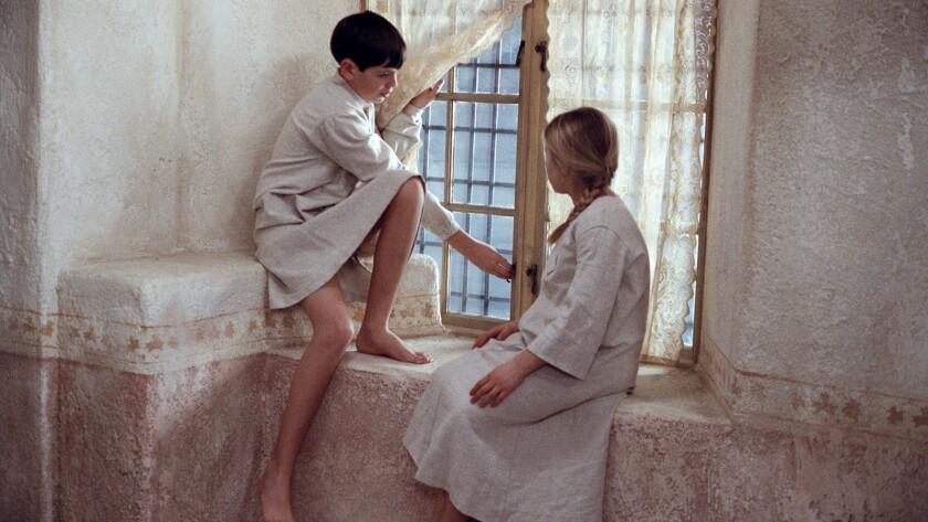 "Bertil Guve and Pernilla Allwin in ""Fanny and Alexander."""