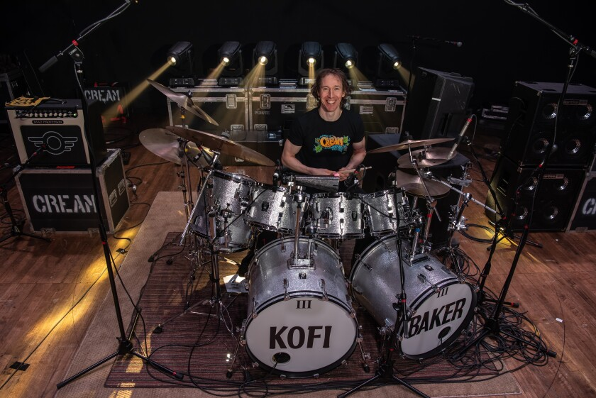 """""""When I started learning Cream's stuff, I was amazed. I thought: 'Hey, my dad is playing all my licks'!"""" says Kofi Baker, the son of Cream drummer Ginger Baker."""