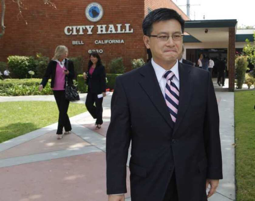 """State Controller John Chiang ordered Bell to reduce its """"retirement tax,"""" which was approved in 1944 to help cover municipal pensions."""