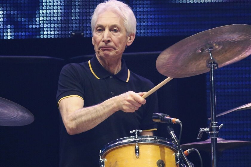 Charlie Watts of the Rolling Stones performs in concert at the TD Garden arena on Wednesday, June 12, 2013 in Boston.