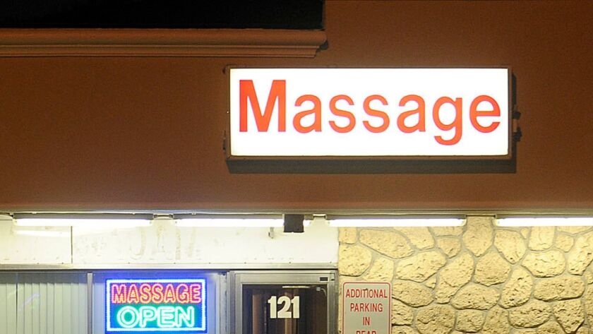 POLICE INVESTIGATION OF MASSAGE PARLORS