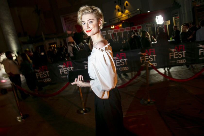 HOLLYWOOD, CA --NOVEMBER 14, 2018 -- Actress Elizabeth Debicki arrives before a screening of directo
