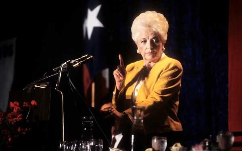 Former Texas Governor Ann Richards