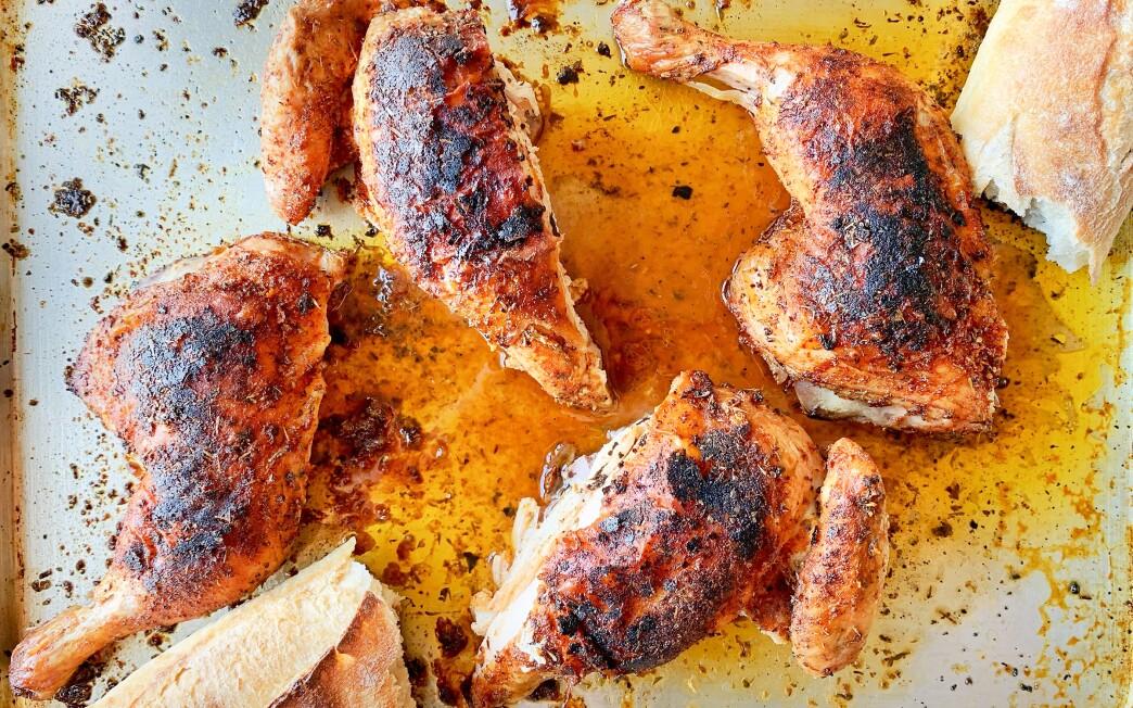 Dry spice butterflied chicken