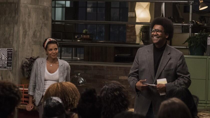 """Denzel Washington and Carmen Ejogo star in 'Roman J. Israel, Esq.' movie. Director Dan Gilroy: """"The"""
