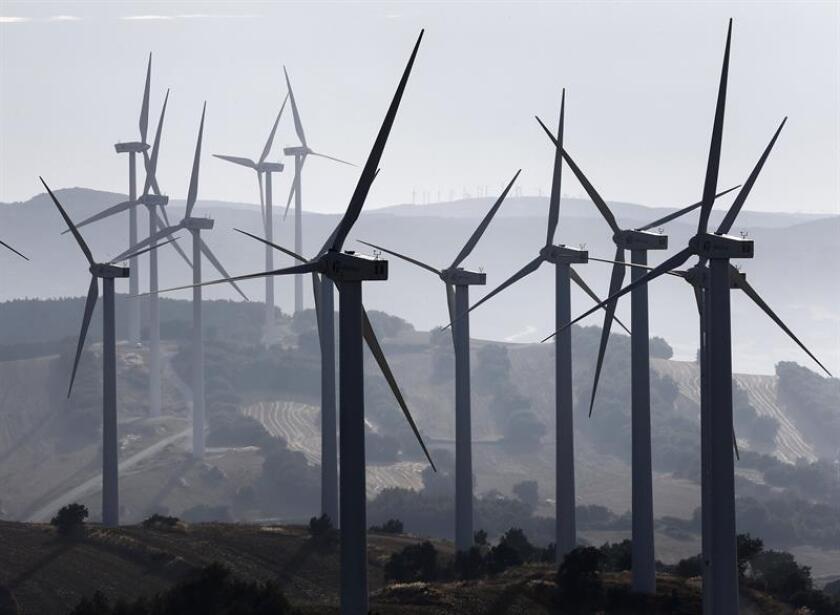 Vista de un parque eólico. EFE/Archivo