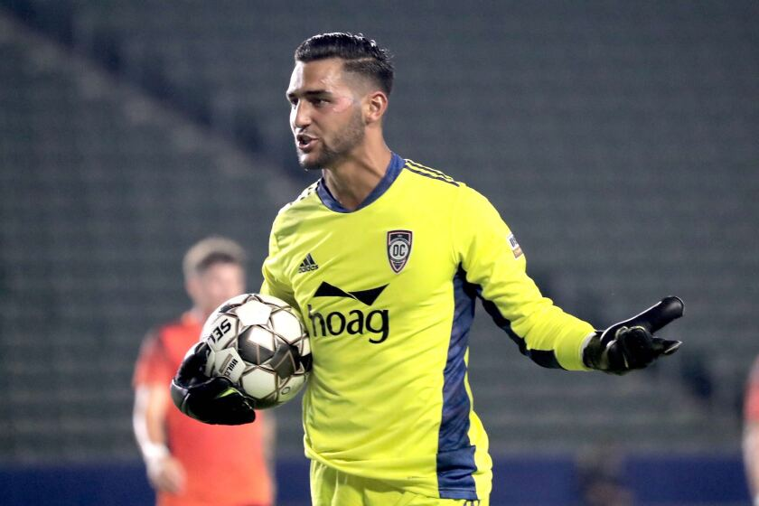 Goalkeeper Aaron Cervantes of the Orange County Soccer Club joins Rangers of the Scottish Premier League.
