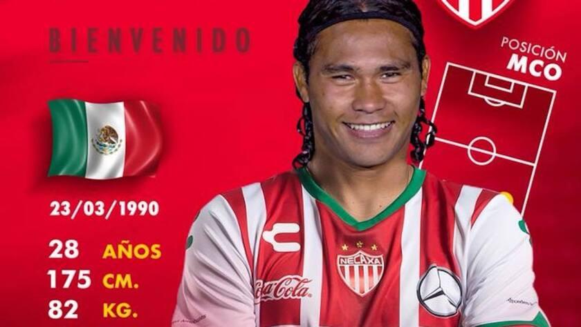 Carlos 'Gullit' Peña, nuevo mediocampista del Necaxa.