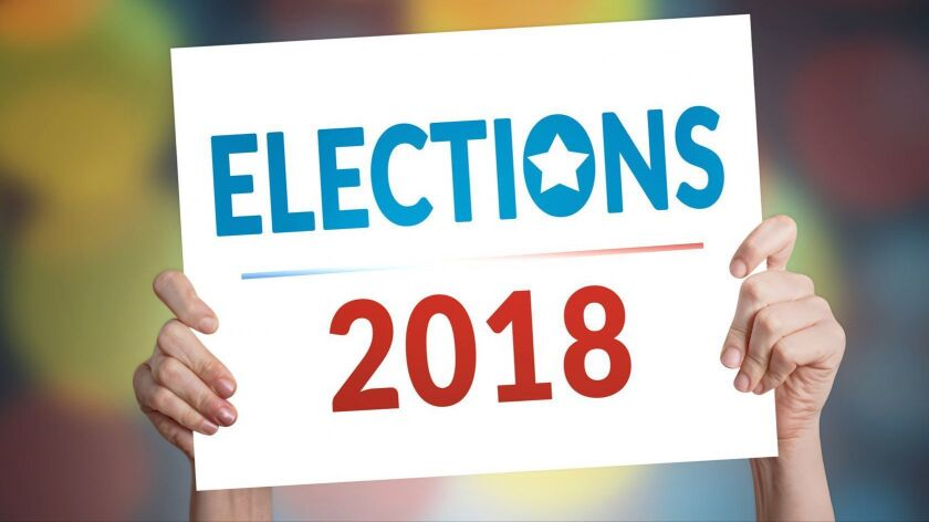 Elections 2018 Card with Bokeh Background User Upload Caption: .