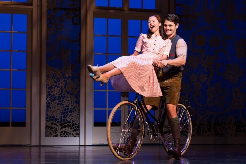 """Paige Silvester as Liesl and Austin Colby as Rolf in """"The Sound of Music."""""""
