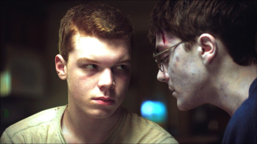 """Cameron Monaghan, left, and Noah Silver in """"Jamie Marks is Dead."""""""