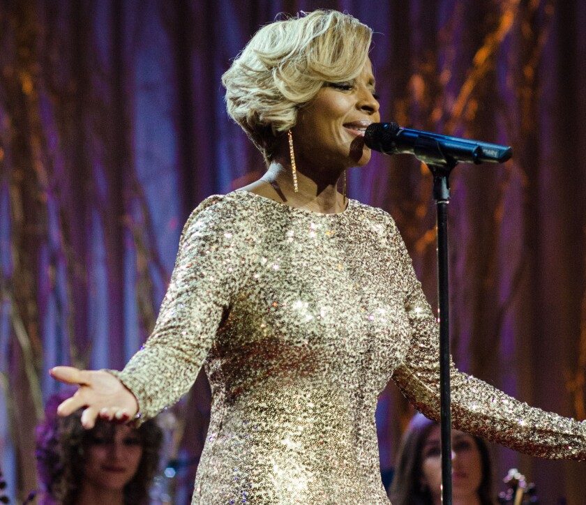 """Mary J. Blige performs on her holiday special, """"A Mary Christmas."""""""