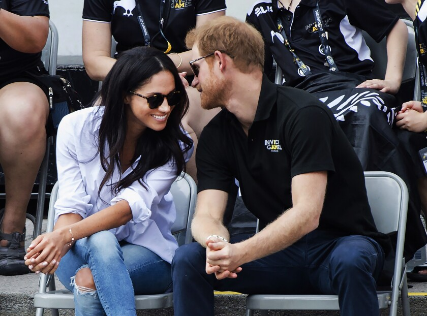 Prince Harry and Meghan Markle on a date at a wheelchair tennis competition in Toronto in 2017.