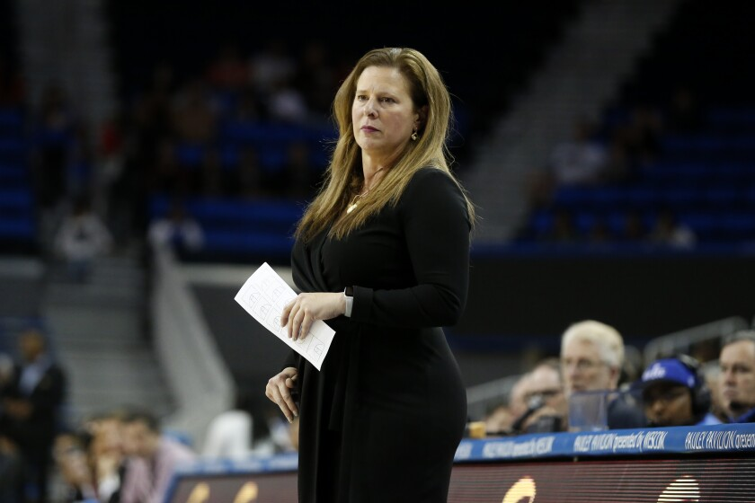 The Bruins' upset of Stanford on Friday was coach Cori Close's 100th Pac-12 victory.