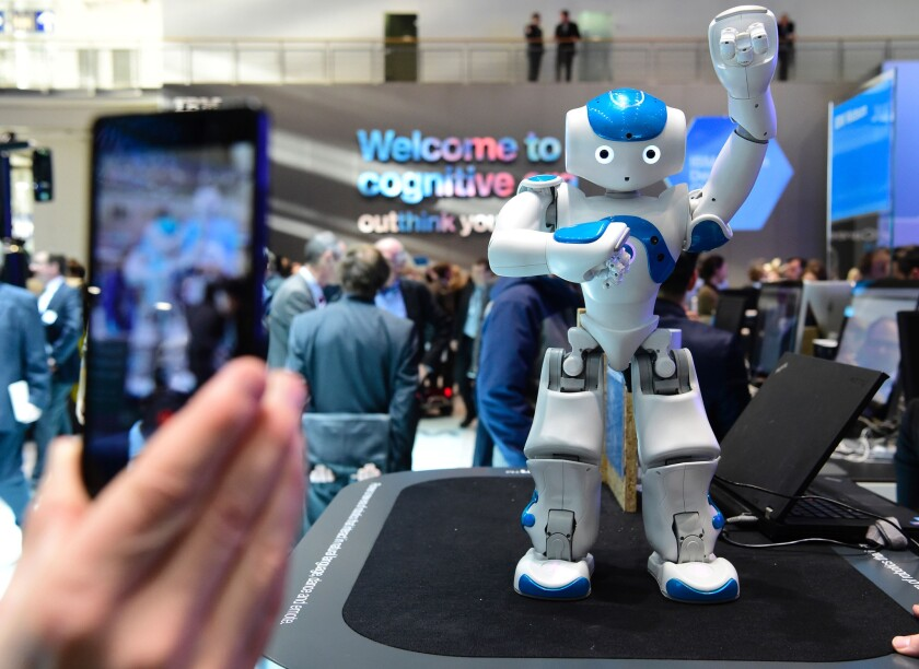 A literary contest in Japan is accepting entries from applicants who are not human -- artificial intelligence programs and other robots, like this one from IBM.