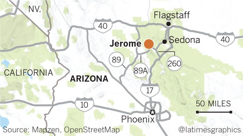 Map Of Arizona Including Jerome.Dare To Spend The Night At A Former Hospital Or Insane Asylum In