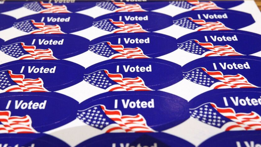 "Mail-ballot voters also get the  ""I Voted"" stickers that are distributed at polling places on Election Day"