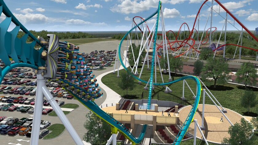 The elements on Fury 325 at Carowinds were stretched out to make the G-forces more manageable.