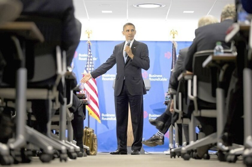 Obama resolute in showdown with GOP over 'fiscal cliff'