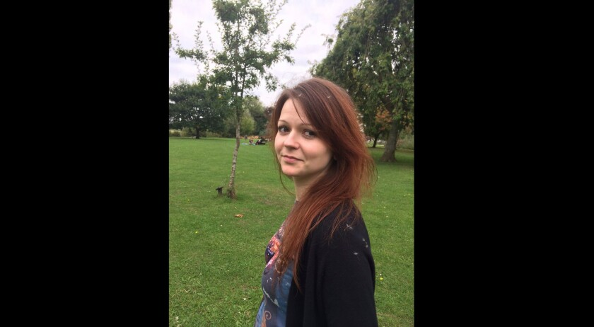 An image of Yulia Skripal, daughter of former Russian spy Sergei Skripal, taken from her Facebook account.