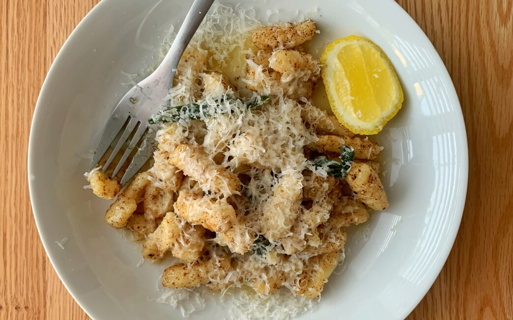 Browned butter infused with fresh sage leaves is the classic preparation for fresh potato gnocchi.