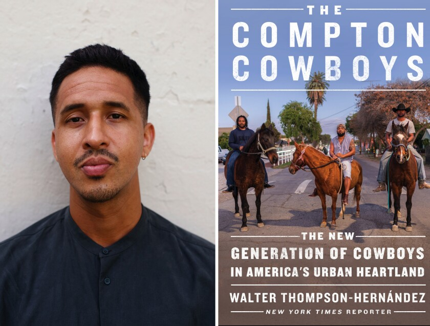 "Journalist Walter Thompson-Hernández and his book ""Compton Cowboys."""