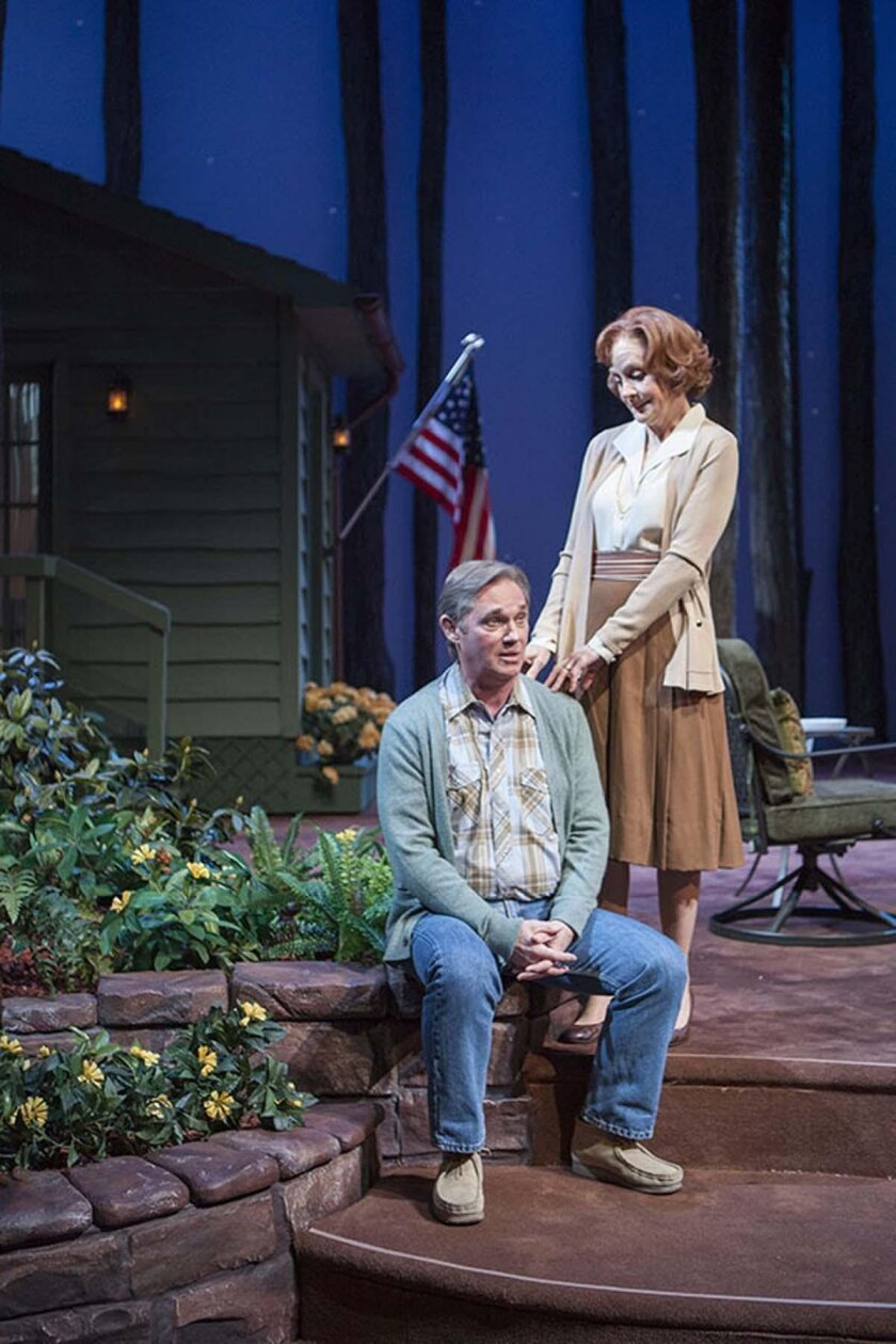 Richard Thomas as Jimmy Carter and Hallie Foote as Rosalynn Carter in the West Coast premiere of Lawrence Wright's 'Camp David' at The Old Globe Theatre in San Diego.