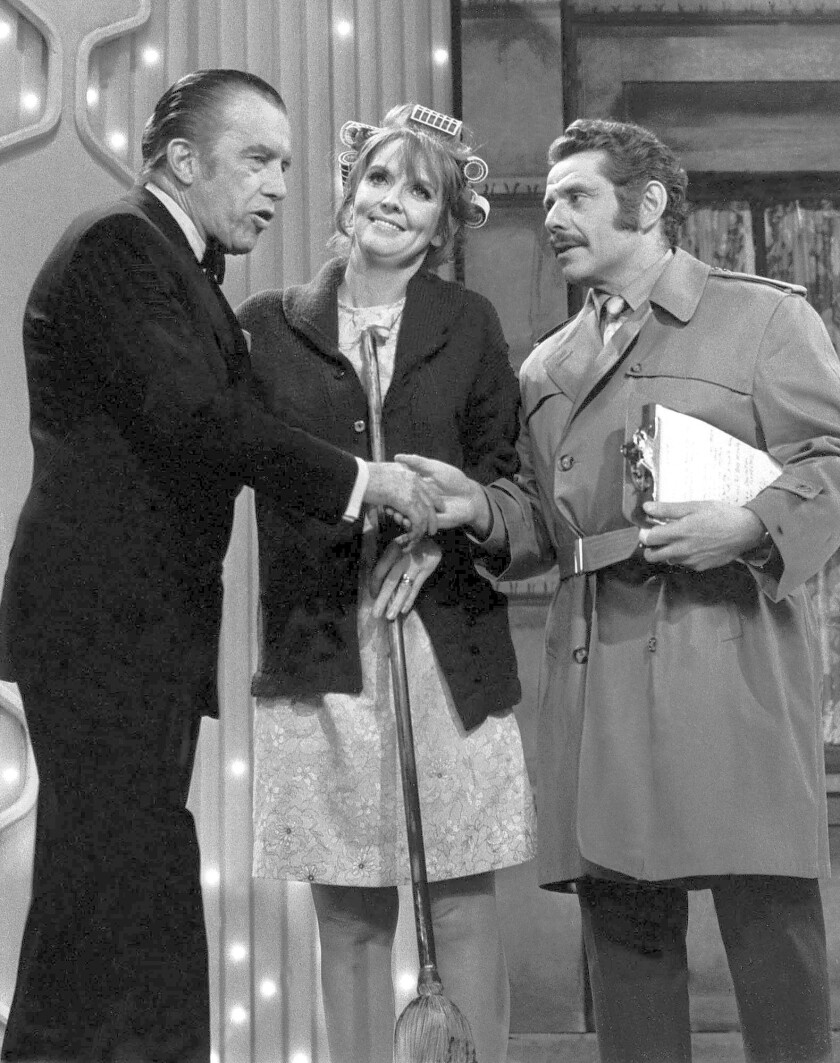 "Jerry Stiller, right, and Anne Meara on ""The Ed Sullivan Show"" in 1970. Their numerous appearances on the program brought them fame and money but, as Meara told The Times in 2010, Sullivan terrified her."