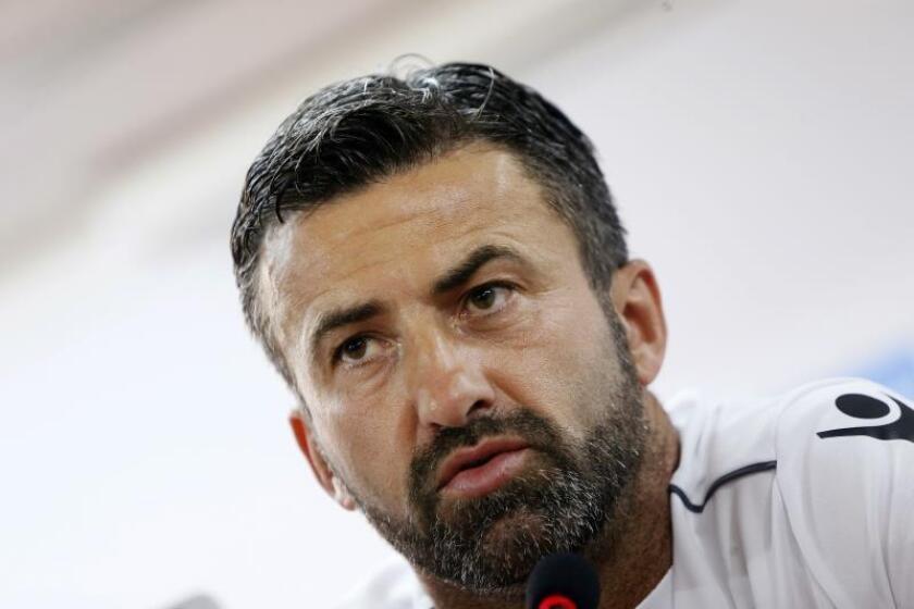El seleccionador de Albania, el italiano Christian Panucci. EFE/Archivo