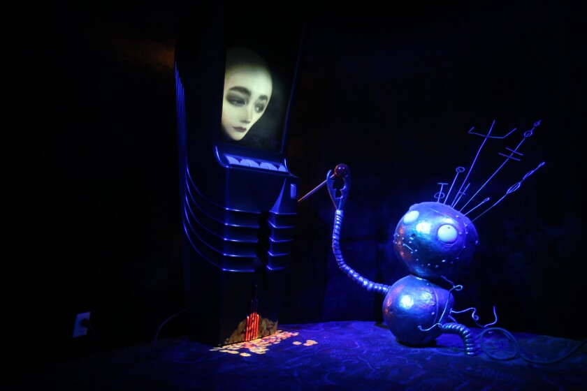 "Tim Burton's ""Robot Boy Slot Machine."""