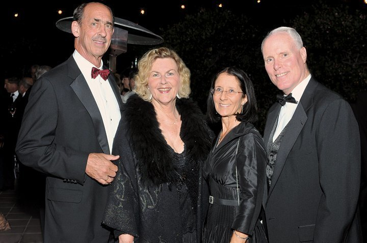 Scripps board member Dick and Jocelyn Vortmann with Rosemary and Chris Van Gorder, Scripps Health CEO. (85th annual Scripps Candlelight Ball, Dec. 6, 2014 at The Grand Del Mar)