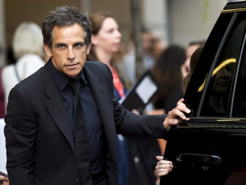 "Ben Stiller arrives at the Sept. 6 premiere of his new film, ""While We're Young,"" at the Toronto International Film Festival."