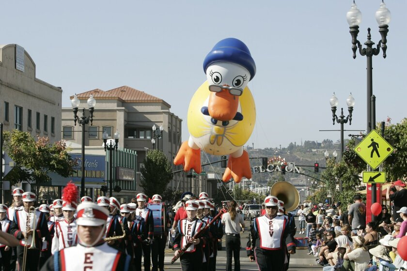 A file photo shows one of the highlights of a past Mother Goose Parade. will be held virtually in 2020.