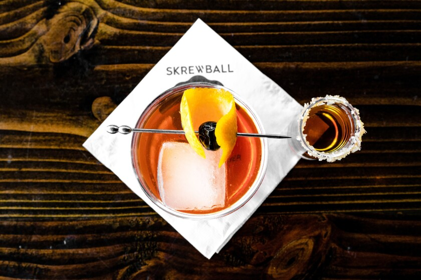 Skrewball cocktail