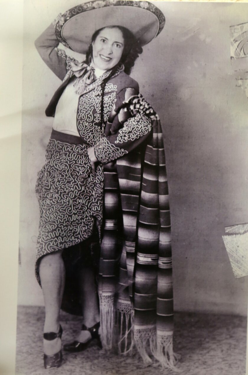 Amparo Ketcham, who turns 104 on Thursday, dressed in one of her dance costumes during the 1940's. courtesy photo