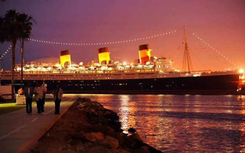The Queen Mary in Long Beach.