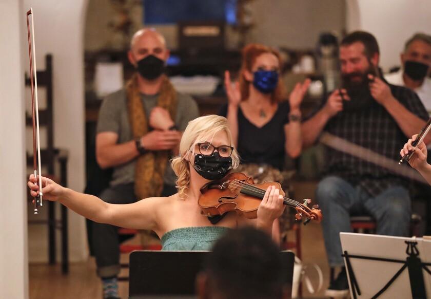 Agnieszka Borzuchowski during the Evening of Dvorak and Mozart concert at the Casa Romantica.