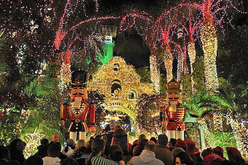 The Mission Inn Hotel and Spa in Riverside hosts an annual Festival of Lights.