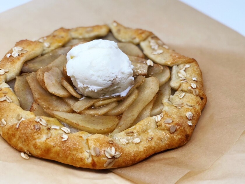 Cinnamon Butter Pear Galette from Barons Market.
