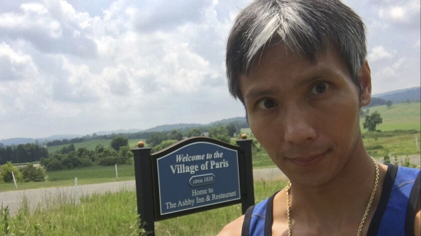 Ling Dao poses for a selfie at the Ashby Inn & Restaurant in Paris, Va., in 2018. Authorities say the 41-year-old's body was found on Mt. Whitney.