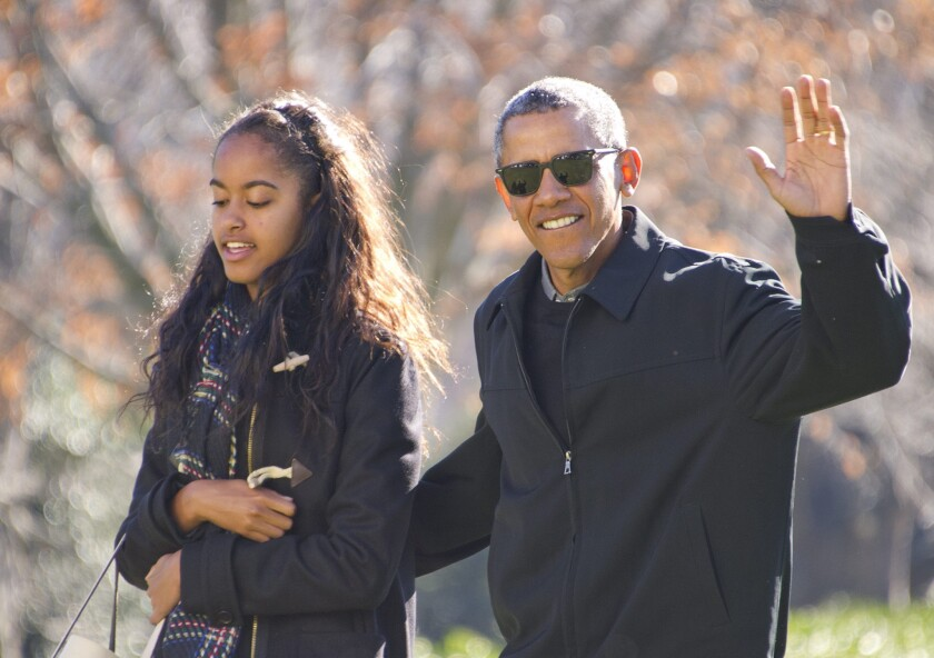 President Obama and daughter Malia return to the White House on Sunday after a family vacation in Hawaii.