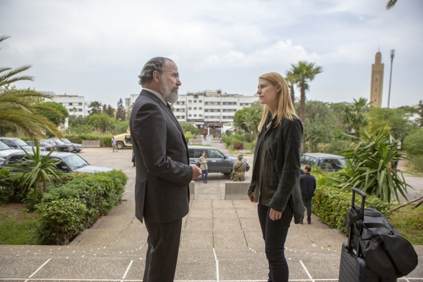 "Mandy Patinkin and Claire Danes in the eighth and final season of ""Homeland."""